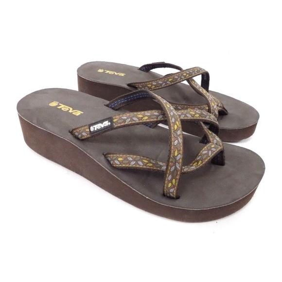 792b50a90 Teva Mush Mandalyn Ola 2 Wedge Flip Flops Sandals.  M 5acc0b1605f43041dfd5dfcb